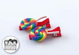 1 paar knipjes: Swirl Lolly 3