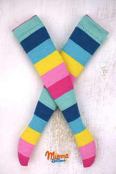socks striped blue-pink-yellow / 21-123