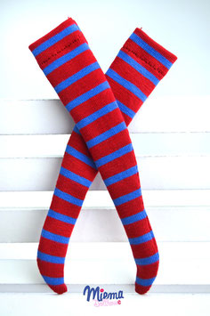 stockings striped red / blue