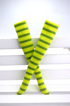 striped socks green/neon green