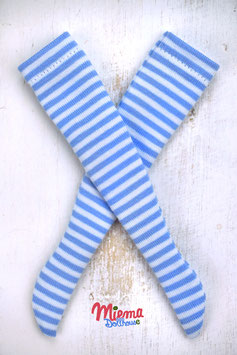 striped socks white / light blue / 21-88