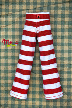 Trousers white and red / H 10