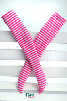 stockings small striped pink and white