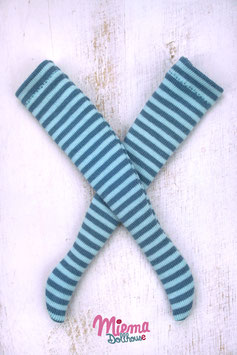 striped socks turquoise / blue / 21-6