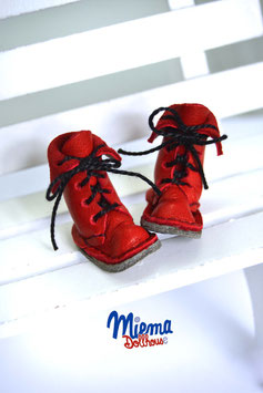 Boots red leather
