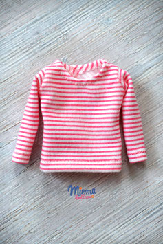 shirt light pink striped / S-2