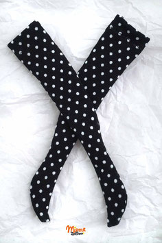 socks black with white dots