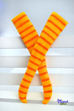 socks striped yellow/orange