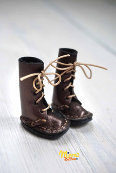 Boots brown gleam leather