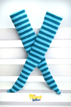 socks light blue and emerald