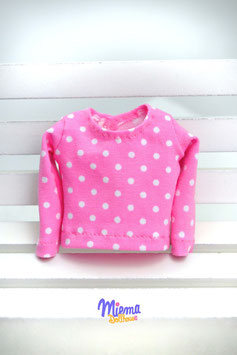Basic Shirt light pink/white dots