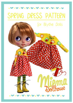 11 printed pages PATTERN + INSTRUCTION for Spring dress