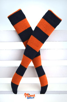 striped socks orange and black