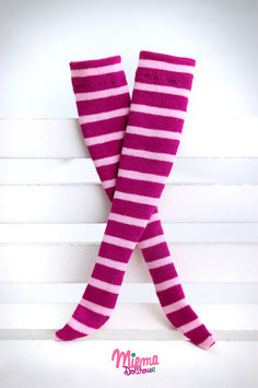 striped socks violet