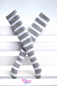 striped socks large grey and white stip