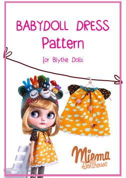 14 printed pages PATTERN + INSTRUCTION for Babydoll dress