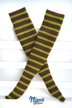 socks brown / green