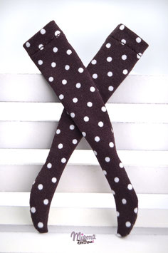 stockings brown with white dots
