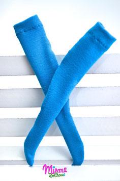 stockings azure blue