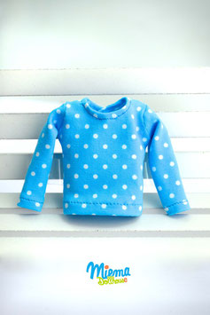 Basic Shirt blue and white dots