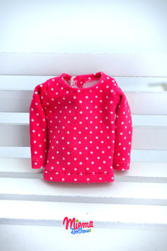 Basic Shirt pink with dots / S-9