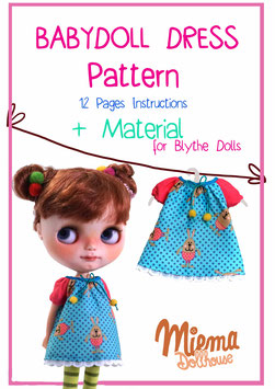 Fabrik and Material + Pattern + Instruktions for Babydoll Dress