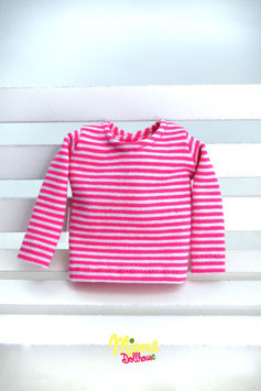 Basic Shirt pink / withe striped