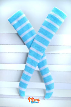stockings light blue and white