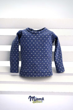 Basic Shirt blue and grey dots