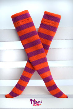 socks orange / purple