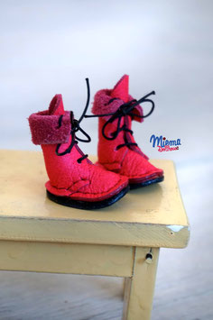 Boots pink leather