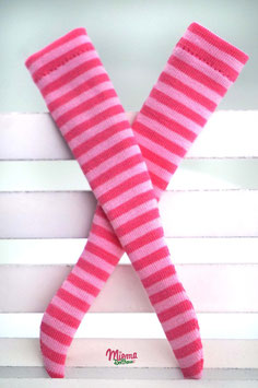 socks striped pink and pastel pink