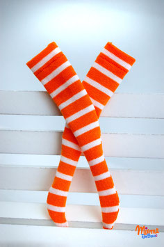 striped socks orange and white