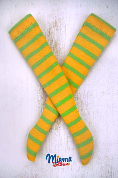 socks striped yellow and green / 21-5