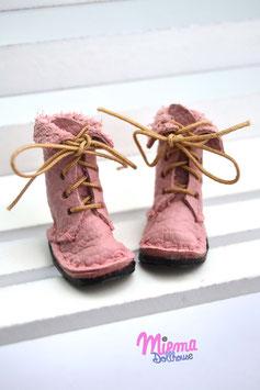 Boots rosé leather