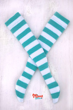 socks striped turquoise