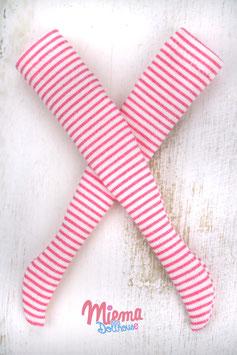 Striped Socks small striped white + light pink / 21-101