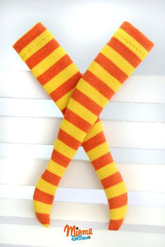 socks yellow / maroon