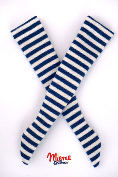 Striped socks dark blue and white