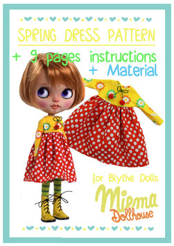 Fabrik and Material + Pattern + Instruktions for Spring dress