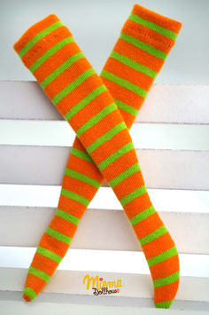 socks striped orange and green