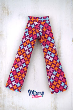 Trousers colorful crosses / H-6