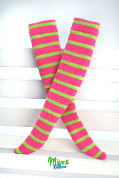 socks pink / green