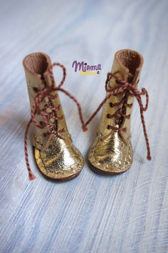 Boots golden leather