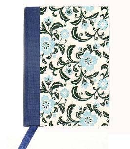 Kalender / Buchkalender / Taschenkalender 2019 DinA7, Florentiner Papier Blumen hellblau grün