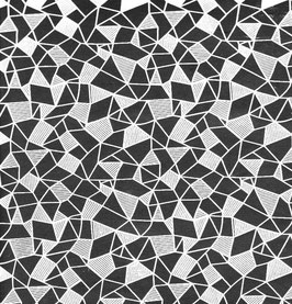 """Baumwoll Papier handgeschöpft, aus Nordindien """" Geometrisches Muster weiß schwarz """""""