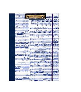 Klemmbrett Mappe DinA4 , Carta Varese Papier Noten blau