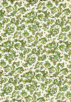Florentiner / Italienisches Papier  50 x 70 cm grün gold  Nr.2