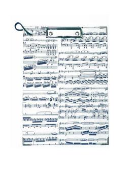 Klemmbrett Carta Varese Dekor Papier Noten blau