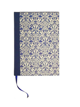 Schreibbuch Notizbuch Tagebuch , Din A5, Ornamente blau